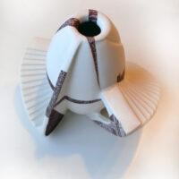 Spaceship, porcelain, 20 cm x 15 cm (h/w). Price: 450 NOK