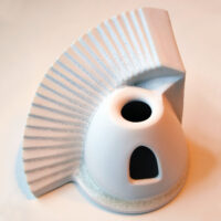Spaceship, porcelain, 15 cm x 15cm (h/w). Price: 450 NOK